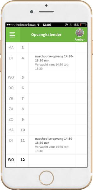 FlexKids-OuderApp-kalender